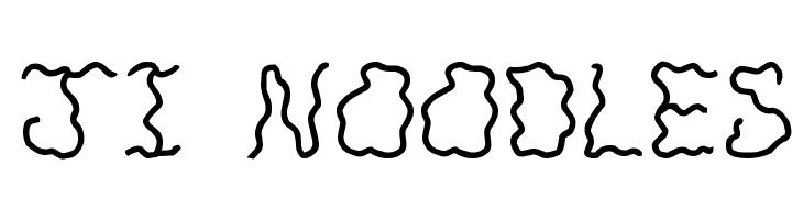 JI Noodles  Free Fonts Download