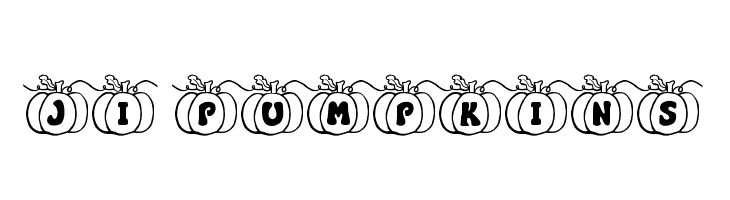 JI Pumpkins  Free Fonts Download