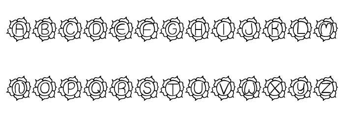 JI Sunflower फ़ॉन्ट अपरकेस