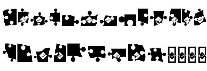 Jigsaw Puzzle Black Fonte OUTROS PERSONAGENS