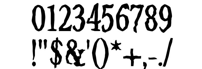 Jilted Medium Шрифта ДРУГИЕ символов