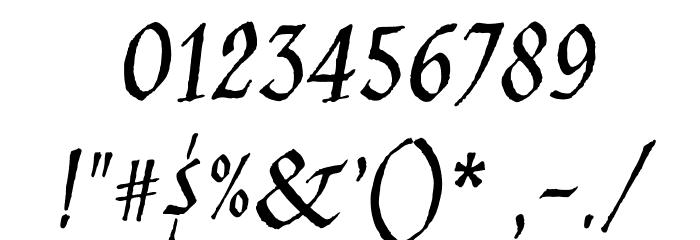JimNightshade-Regular Font OTHER CHARS