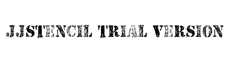 JJStencil Trial Version  Free Fonts Download