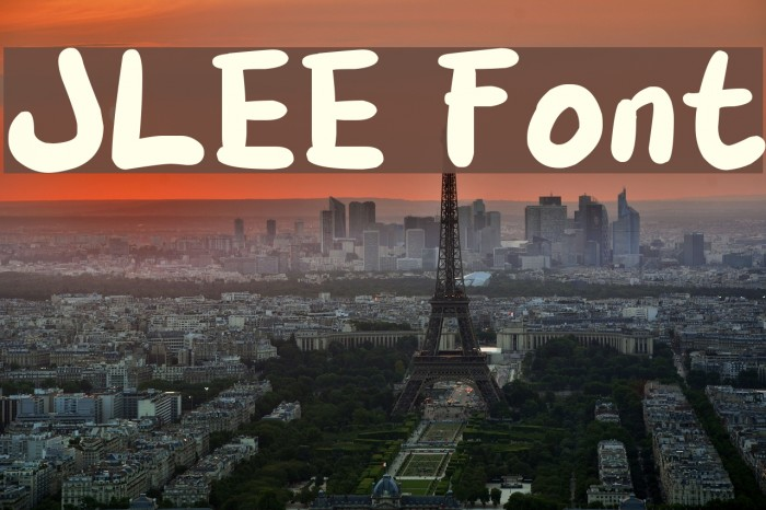 JLEE Fonte examples