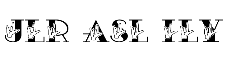 JLR ASL ILY  Free Fonts Download