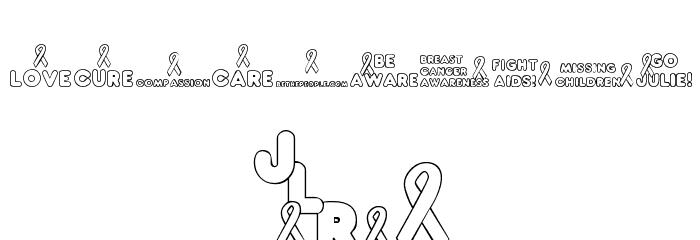 JLR Awareness Ribbons फ़ॉन्ट अन्य घर का काम