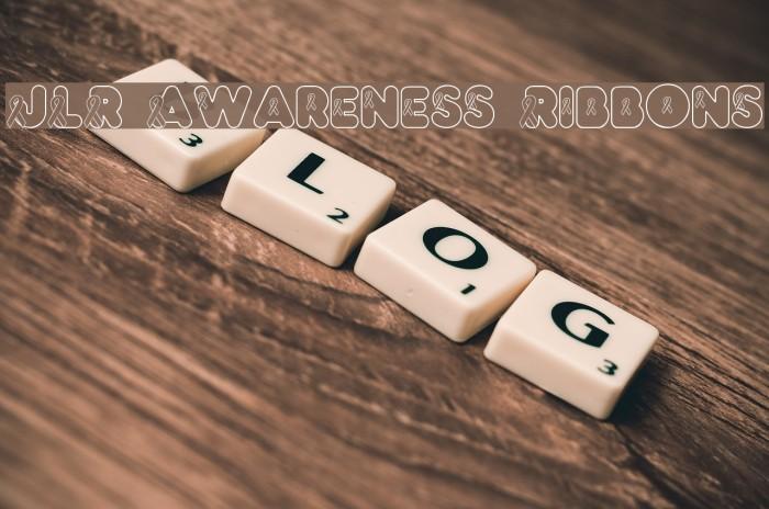 JLR Awareness Ribbons फ़ॉन्ट examples