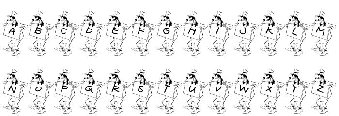 JLR Goofy Writing Fonte MAIÚSCULAS