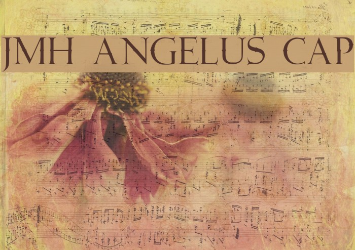 JMH Angelus Cap Font examples