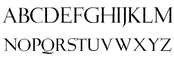 JMH Angelus Cap Schriftart Kleinbuchstaben