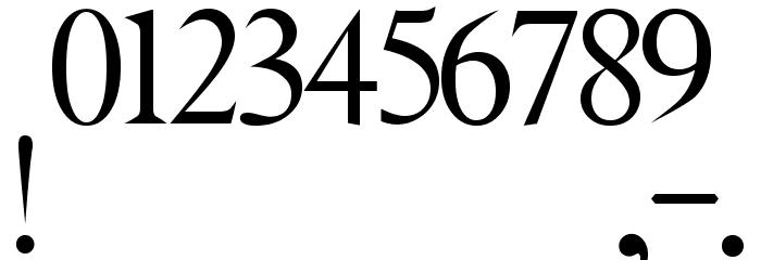JMH Angelus II フォント その他の文字