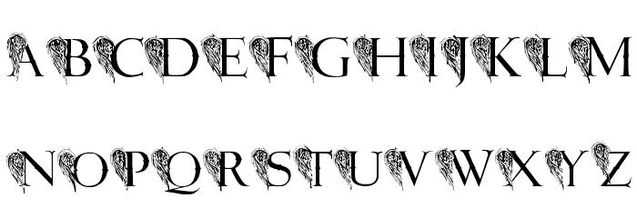 JMH Angelus II لخطوط تنزيل الأحرف الكبيرة