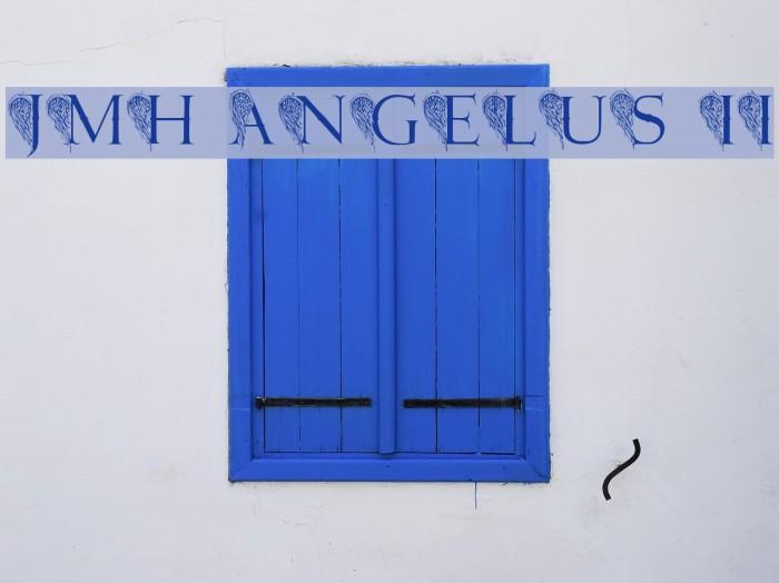 JMH Angelus II फ़ॉन्ट examples