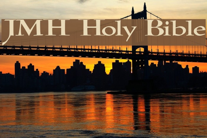 JMH Holy Bible Fonte examples