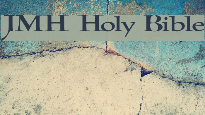 JMH Holy Bible Font examples