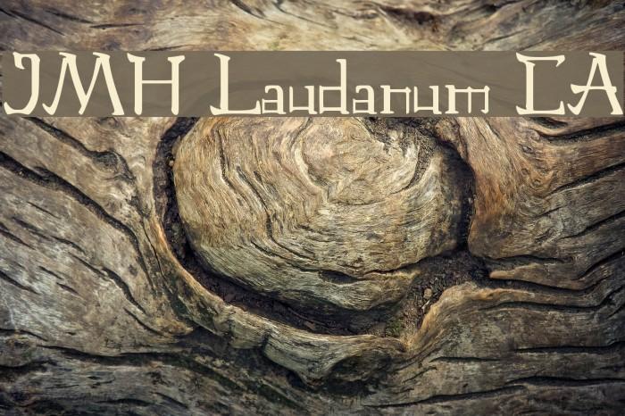 JMH Laudanum CA फ़ॉन्ट examples