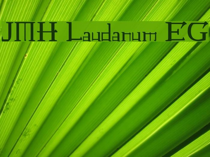 JMH Laudanum EG لخطوط تنزيل examples