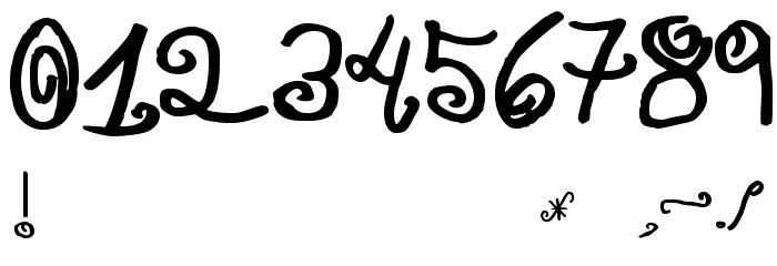 JMH Paula SM フォント その他の文字