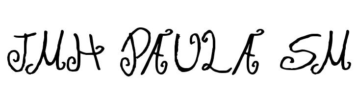 JMH Paula SM  font caratteri gratis