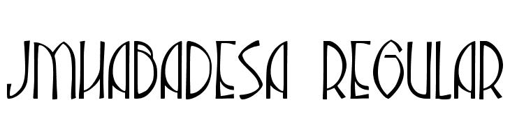 JMHAbadesa-Regular  Free Fonts Download
