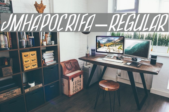 JMHApocrifa-Regular Fonte examples