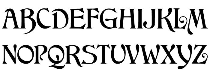 JMHArkham-Regular Font UPPERCASE