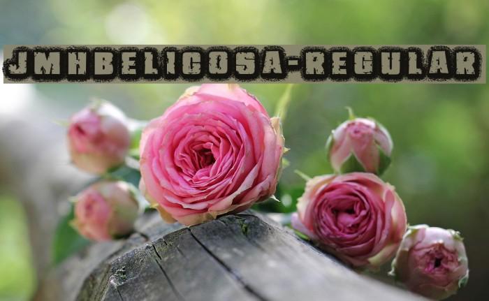JMHBelicosa-Regular फ़ॉन्ट examples