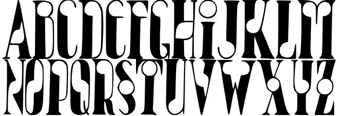 JMHBolitaCaps-Regular Font LOWERCASE