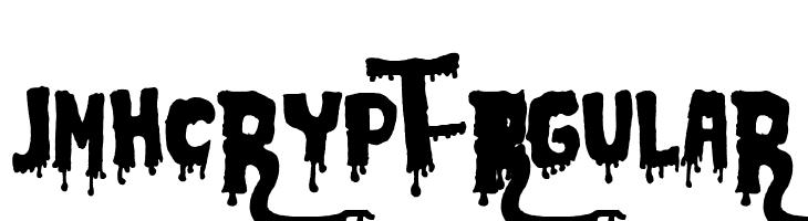 JMHCRYPT-Regular  les polices de caractères gratuit télécharger
