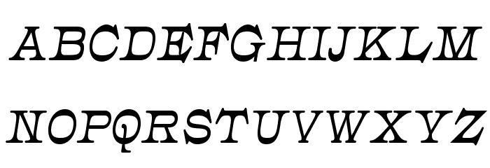 JMHCajita-BoldItalic Font UPPERCASE