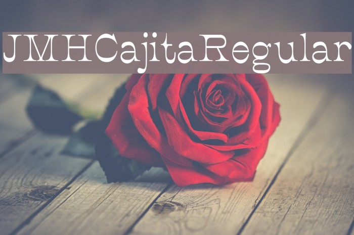 JMHCajita-Regular फ़ॉन्ट examples