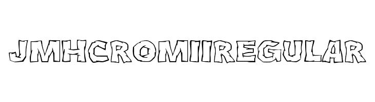 JMHCromII-Regular  font caratteri gratis