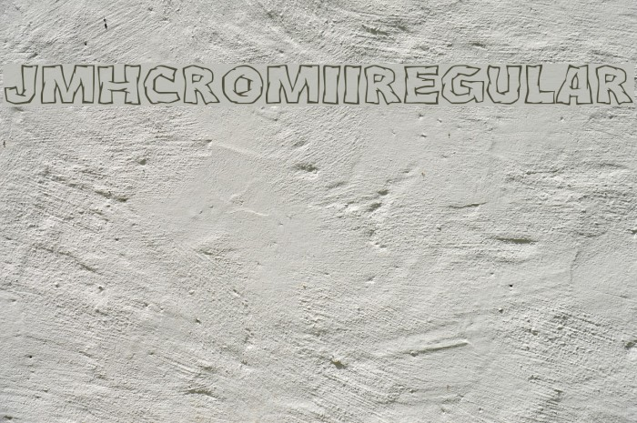 JMHCromII-Regular फ़ॉन्ट examples