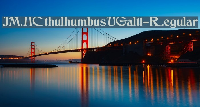 JMHCthulhumbusUGalt1-Regular फ़ॉन्ट examples