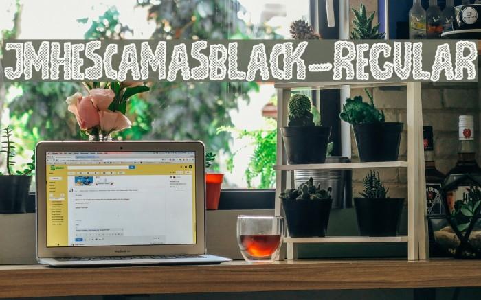 JMHEscamasBlack-Regular Font examples