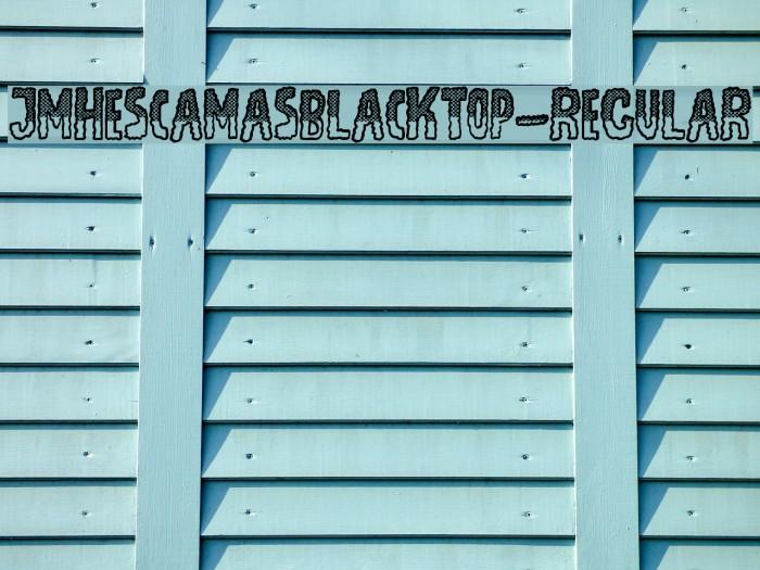 JMHEscamasBlackTop-Regular फ़ॉन्ट examples