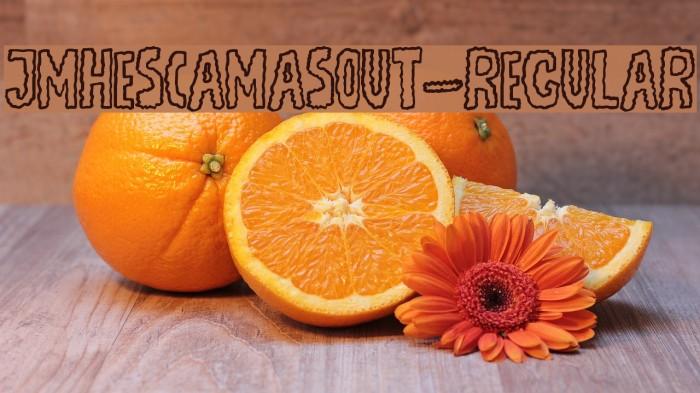 JMHEscamasOut-Regular फ़ॉन्ट examples