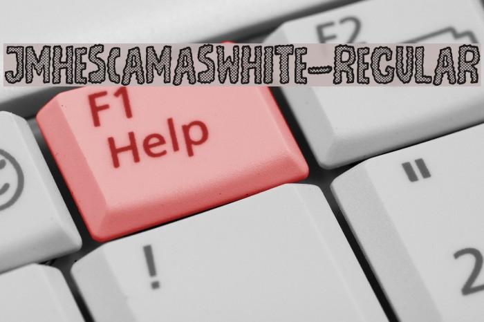 JMHEscamasWhite-Regular फ़ॉन्ट examples