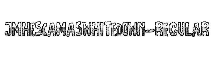 JMHEscamasWhiteDown-Regular  les polices de caractères gratuit télécharger