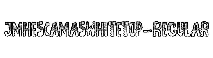 JMHEscamasWhiteTop-Regular  les polices de caractères gratuit télécharger