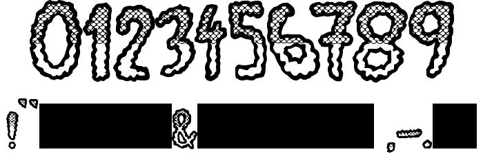 JMHEscamasWhiteTop-Regular Font OTHER CHARS