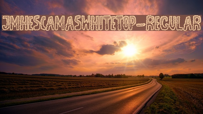 JMHEscamasWhiteTop-Regular Font examples