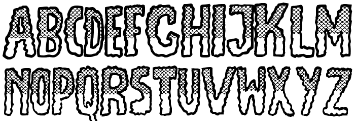 JMHEscamasWhiteTop-Regular Font LOWERCASE