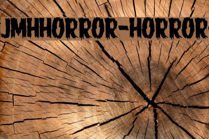 JMHHORROR-HORROR फ़ॉन्ट examples