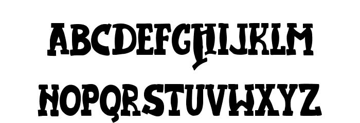 JMHHarryDicksonOne-Regular Font UPPERCASE