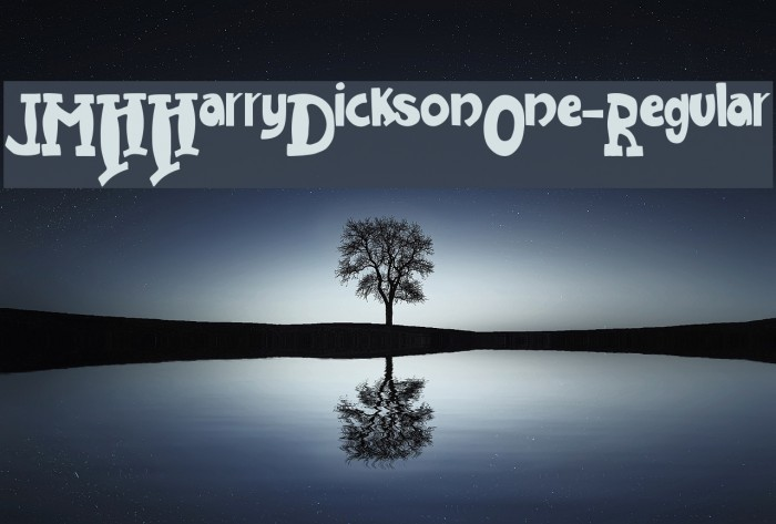 JMHHarryDicksonOne-Regular Font examples