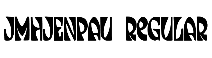 JMHJENPAU-Regular  Free Fonts Download