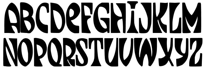 JMHJENPAU-Regular Font LOWERCASE