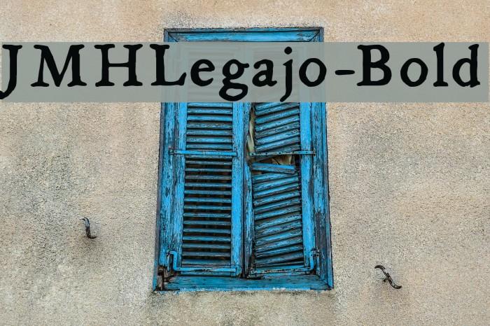 JMHLegajo-Bold फ़ॉन्ट examples