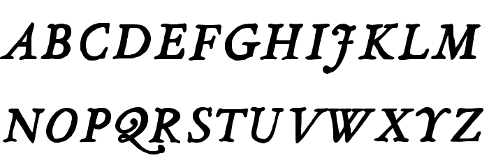 JMHLegajo-BoldItalic Font UPPERCASE
